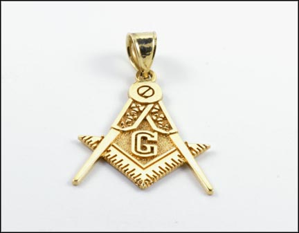 Masonic Pendant in 10K Yellow Gold