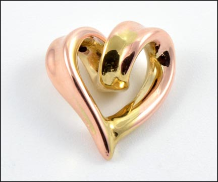 Heart Pendant in 10K Rose Gold