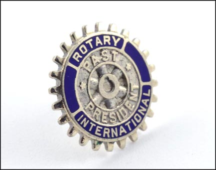 Rotary International Past President Tie Tack in 14K White Gold