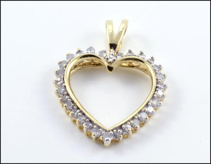 Heart Pendant in 10K Yellow Gold