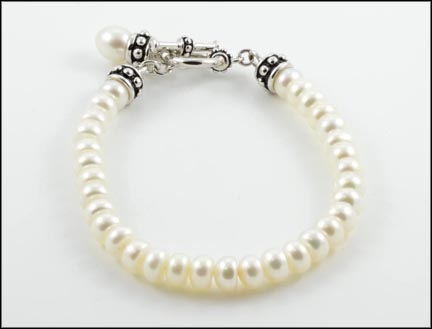 Freshwater Pearl Honora Bracelet In Sterling Silver Length Is 7½