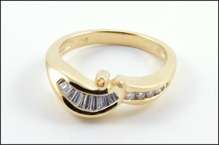 Ring Mounting in 14K Yellow Gold