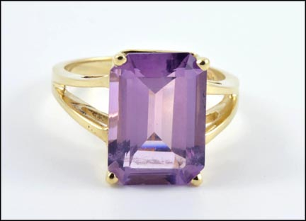 Amethyst Ring in 10K Yellow Gold LARGE