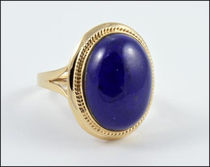 Lapis Ring in 14K Yellow Gold LARGE