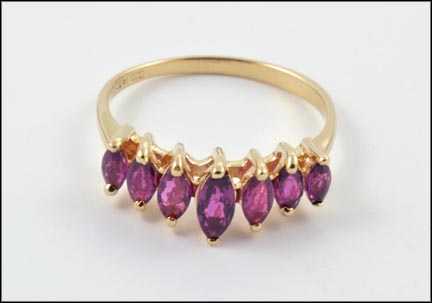 Ruby Ring in 14K Yellow Gold LARGE