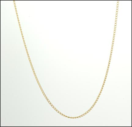 Fine Curb Link Chain in 14K Yellow Gold LARGE