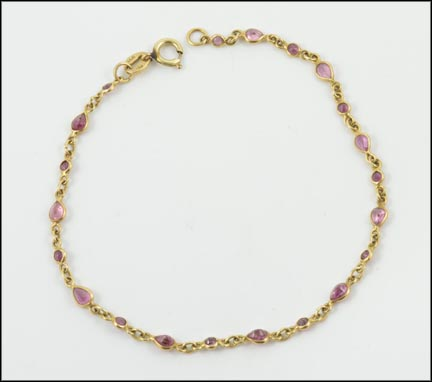Ruby Bracelet in 14K Yellow Gold LARGE
