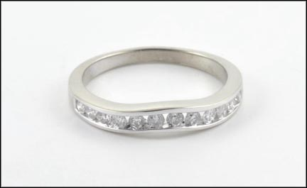 Diamond Band in 14K White Gold LARGE