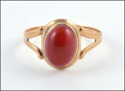 Carnelian Ring in 10K Yellow Gold_LARGE