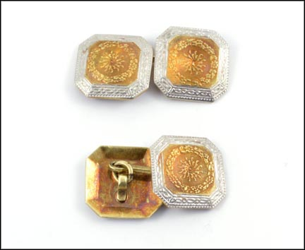 1930's Cufflinks in 14K Two-Tone Gold_LARGE