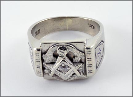 Masonic Blue Lodge Ring in 10K White Gold_LARGE