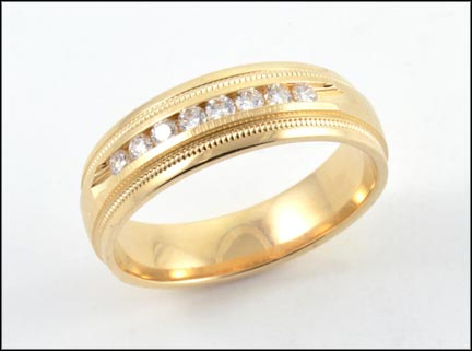Men's Diamond Band in 14K Yellow Gold LARGE