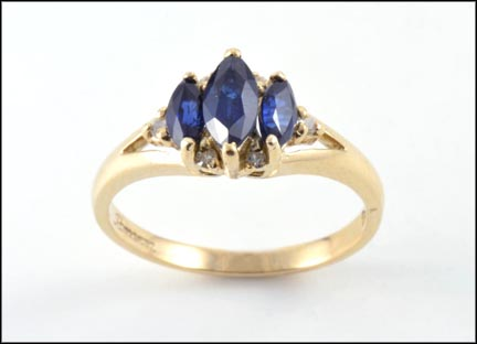 Iolite Ring in 14K Yellow Gold LARGE
