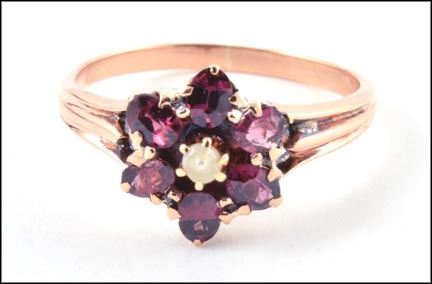 Rhodolite Garnet Ring in Rose Gold LARGE