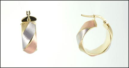 Hoop Earrings in 14K Tri-Color Gold_LARGE