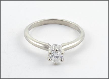 Diamond Solitaire Ring in 14K White Gold_LARGE