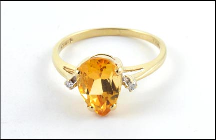 Citrine and Diamond Ring in 10K Yellow Gold_LARGE