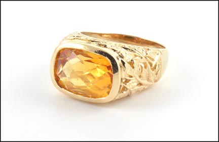 Citrine Ring in 14K Yellow Gold_LARGE