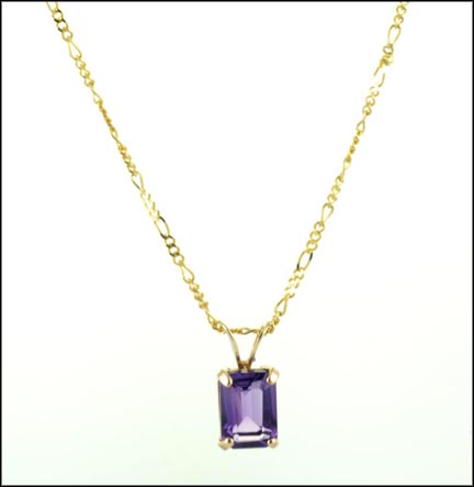 Amethyst Necklace in 10K Yellow Gold_LARGE