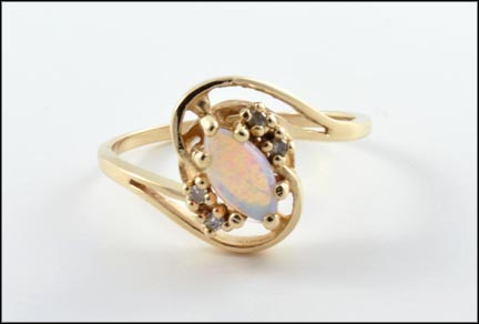 Opal Ring in 14K Yellow Gold LARGE