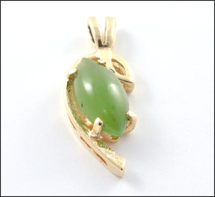 Jade Pendant in 14K Yellow Gold_LARGE