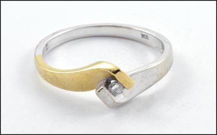 Diamond Ring in 10K Two-Tone Gold
