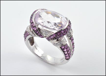 Kunzite and Pink Sapphire Ring in 14K White Gold_LARGE