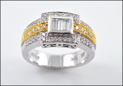Levian Diamond Band in 18K Two-Tone Gold