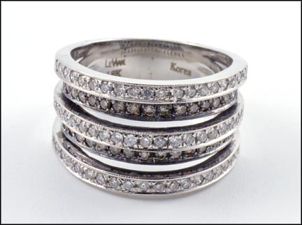 Levian Diamond Band in 18K White Gold LARGE