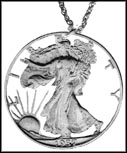 Walking Liberty Half, with rim and letters