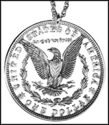 Morgan Dollar Reverse, with letters