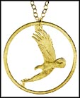 Sacagawea Dollar Eagle, with rim