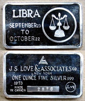 Libra' Art Bar by Jacques Cartier Mint.