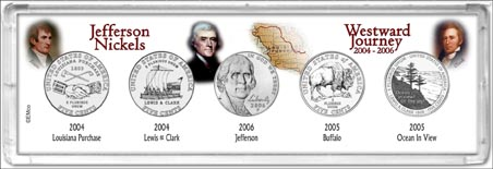 2004-2006 Jefferson Nickel Westward Journey 5-piece Set
