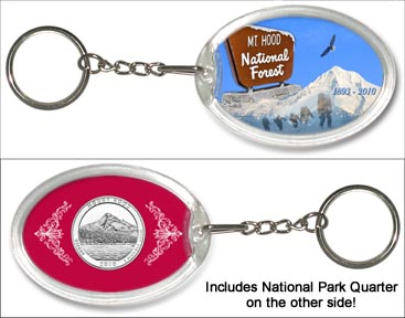 Mt. Hood National Forest Keychain