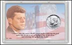 John F. Kennedy American Space Program Half Dollar Display THUMBNAIL