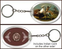 'Buffalo Hunt' Keychain