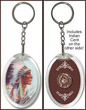 'Indian Chief 1' Keychain