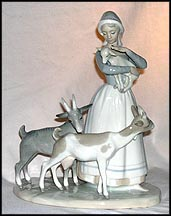 Shepherdess With Goats, Lladro Figurine  #1001