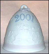 2001 Christmas Bell, Lladro Christmas Bell  #16718