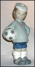 Soccer Player Puppet, Lladro Figurine  #4967 MAIN