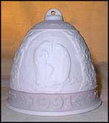 1991 Christmas Bell, Lladro Christmas Bell  #5803M