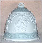 1994 Christmas Bell, Lladro Christmas Bell  #6139M