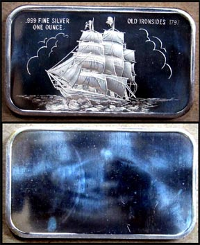 Old Ironsides 1797' Art Bar by Madison Mint.