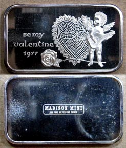 Be My Valentine 1977' Art Bar by Madison Mint. MAIN