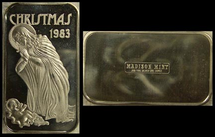 Christmas 1983' Art Bar by Madison Mint. MAIN