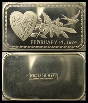 Valentine's Day 1974' Art Bar by Madison Mint.