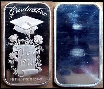 Graduation 1973' Art Bar by Madison Mint. MAIN