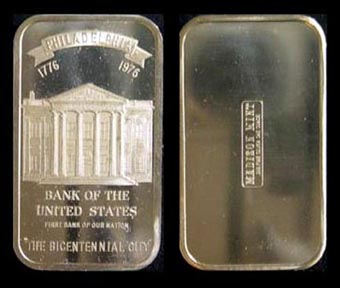 Bank Of The United States' Art Bar by Madison Mint.