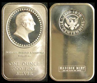 Franklin D. Roosevelt' Art Bar by Madison Mint. MAIN